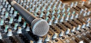 mic on sound board